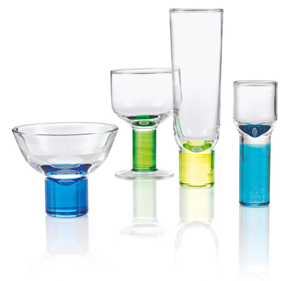 IMPRESSIONEN – Martiniglas-Set, 4-teilig (Abb. links)